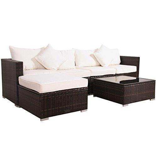 Svita California-Plus POLY-RATTAN Lounge Gartenset Sofa-Set Garnitur mit Aluminium-Rahmen Gartenmöbel Couch-Set XL
