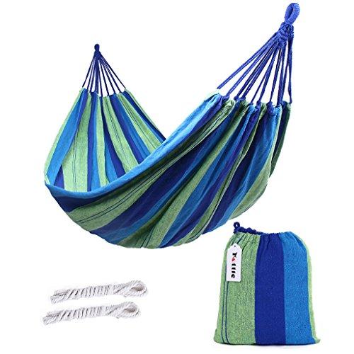 Kottle Outdoor-weicher Baumwolle Stoff brasilianische Hängematte doppelte Breite 2 Person Reisen Camping Hängematte