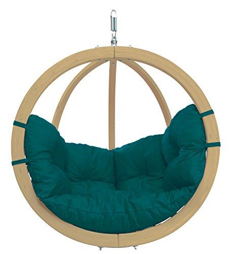 AMAZONAS Hängesessel in edlem Design Globo Chair Green aus FSC Fichtenholz bis 120 kg in Grün