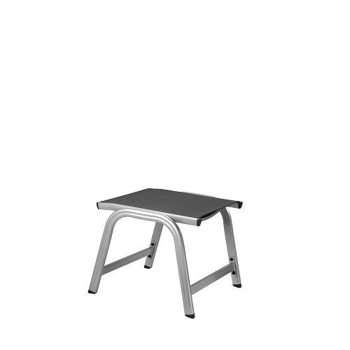 Kettler Basic Plus Advantage Gartenhocker Metall – stabiler Alu Hocker für Terrasse und Balkon – langlebige wetterfeste Gartenmöbel mit Stil – UV-beständig – silberanthrazit