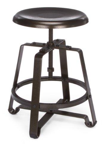 OFM 921-mtl Metall Hocker Stuhl mit Dark Vein Sitz und Beine