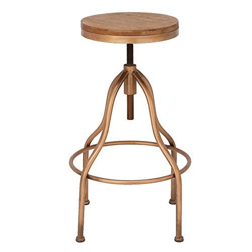 Urban Designs Jones wooden-top verstellbar Metall Bar Hocker Kupfer