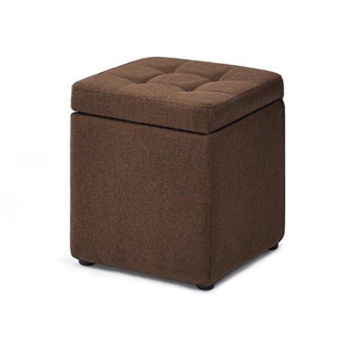 Fußbank Puff Lagerung Sitzsack Fußstütze Lagerung Hocker Wohnzimmer Sofa Dressing Ändern Schuhe Hocker Fußstütze Kleiner Stuhl Sitz Ottoman Stuhl Bank Leinenstoff Brown