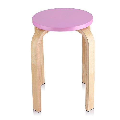 Zerone Hocker Sitzhocker Holzhocker Stapelhocker Küchenhocker Wohnzimmer Möbel Dekoration Farbe optional Rosa
