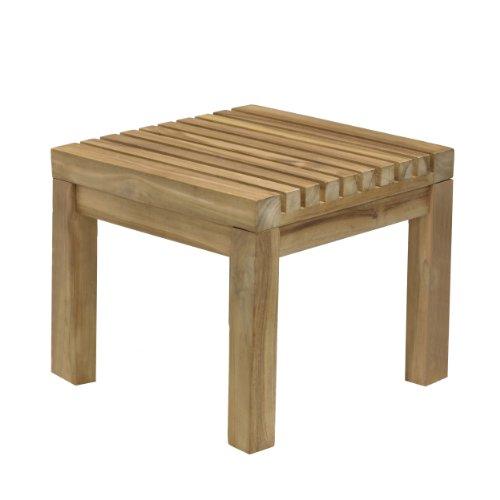 Jan Kurtz Nice Teak Massiv Holz Hocker Tischchen Innen Aussen 492875