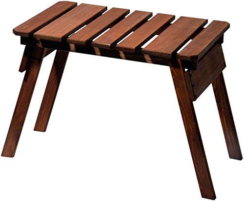 dobar Hocker Holz klappbar Holzhocker aus geöltem FSC-Kiefernholz massiv 76 x 37 x 44 cm braun