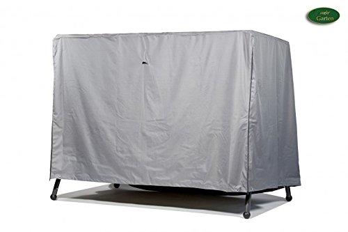 Premium Schutzhülle für GartenschaukelHollywoodschaukel aus Polyester Oxford 600D - lichtgrau - von mehr Garten - für 35-Sitzer Breite max 250cm