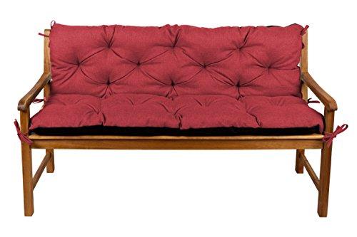 Bankauflage Bankkissen Sitzkissen  Rückenlehne für Hollywoodschaukel Gartenpolster 140x50x50 9 Rot