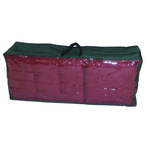 Greemotion Schutzhülle für Kissen und Auflagen wasserabweisend mit Reißverschluß und Fenster Grün ca 125 x 50 x 32 cm