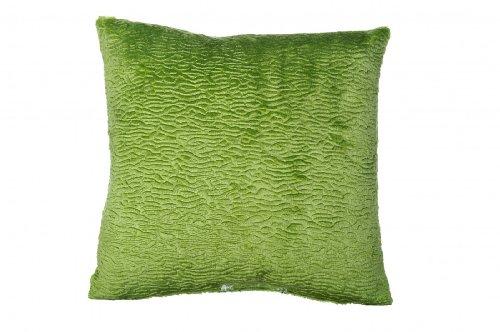 Kissenhüllen 4Stk aus festem Stoff mit Velours - Plüscheffekt in der Farbe grün gewebt ca 40x40 cm dezent genarbt