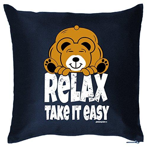 DekoFun-Kissen mit Füllung lustige Sprüche Relax Take It Easy Goodman Design