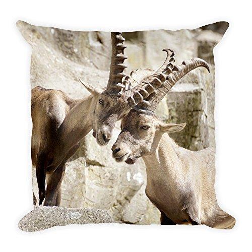 Purefire Designs Steinböcke großes flauschiges Kissen 45x45 cm handmade in EU