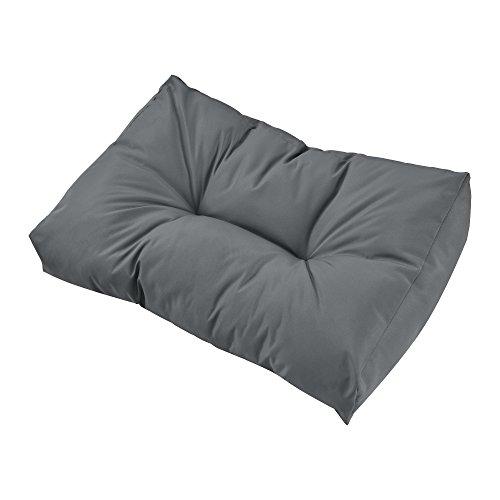 encasa 1x Rückenkissen für Euro-Paletten-Sofa Hellgrau Palettenkissen Auflage inOutdoor Polster Möbel
