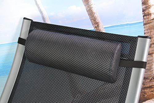 2 Nackenpolster für Gartenmöbel Liegen Deckchair Relaxsessel Kopfkissen