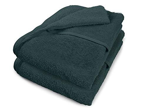 Dyckhoff Doppelpack - Schonbezüge für Gartenstuhl Gartenliege aus dem Hause Kapuze für Besseren Halt - erhältlich in 7 sommerlichen Farben Gartenliege grau