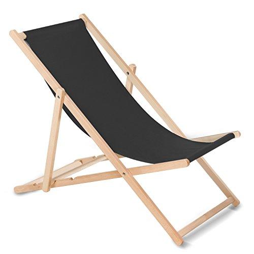 GreenBlue Liegestuhl Sonnenliege Klappbar aus Buchholz ohne Armlehne Sonnenliege Gartenliege Liege Braun