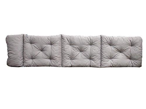 Ambientehome Deckchair Auflage für Liege grau ca 195 x 49 x 8 cm Polsterauflage Kissen