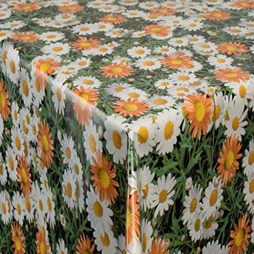 EHT Tischdecke Wachstuch Gartentischdecke rund eckig oval in Verschiedenen Größen Meterware Wachstischdecke Blumenranke