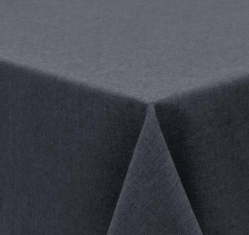 Tischdecke Leinen Optik FARBE wählbar Gartentischdecke Wasserabweisend Eckig 135x200 cm Dunkelgrau Beautex