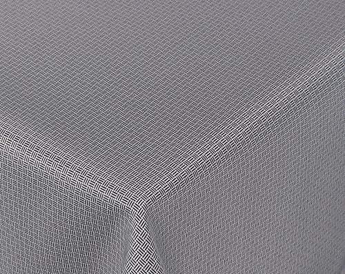 Amaris Lotus Jacquard Tischdecke für Heim und Garten wasserabweisend schwarzweiß Größe wählbar Eckig 130 x 155 cm