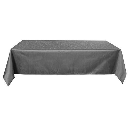 Deconovo Tischdecke Wasserabweisend Tischwäsche Tischtücher 130x220 cm Dunkelgrau