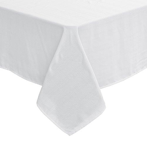 Deconovo Wasserabweisend Tischdecke Tischtücher Karo 137x200 cm Karo Weiß