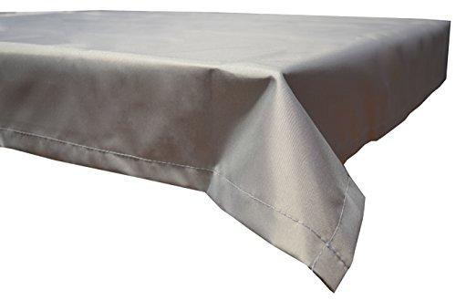 beo Outdoor-Tischdecken wasserabweisende eckig 130 x 180 cm hellgrau