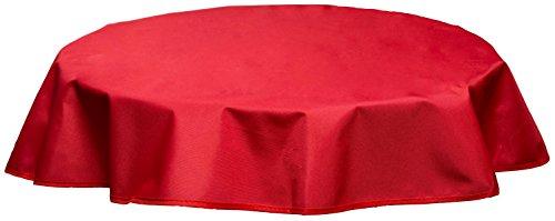 beo Outdoor-Tischdecken wasserabweisende rund Durchmesser 120 cm rot