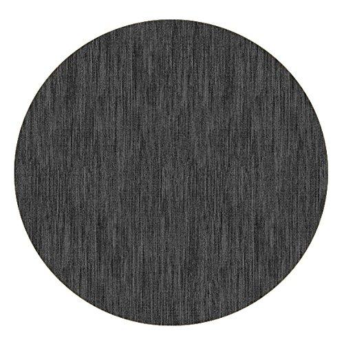 DecoHomeTextil Wachstuch Robuste Leinen Prägung Rund Oval Größe Farbe Wählbar Rund 80 cm Grau Anthrazit abwaschbare Tischdecke