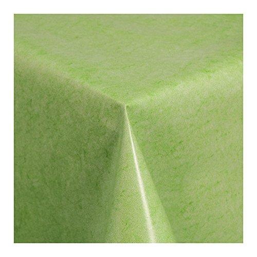 Wachstuch Tischdecke Wachstischdecke Gartentischdecke Abwaschbar Meterware Uni Grün Grün Melliert 225-04 180cm x 140cm