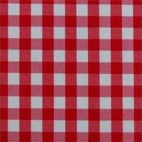 pflegeleichtE Tischdecke rund Teflonbeschichtet in DesignsLandhaus rot  weiß Durchmesser 160 cm