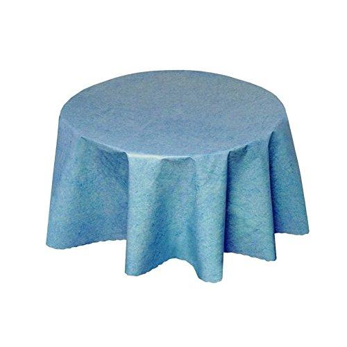 Tischdecke Wachstuch Abwaschbar Uni Blau 138cm Rund 225-01R