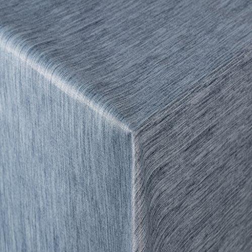 Tischdecke Wachstuch RUND ECKIG OVAL in verschiedenen Größen abwaschbar Meterware einfarbig Uni Wachstischdecke blau