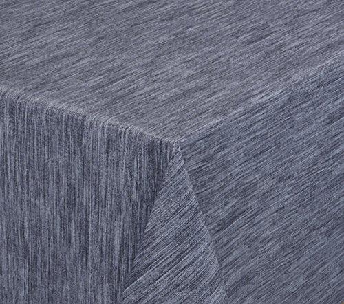 Wachstuchtischdecke rund oval eckig Georginias Tischdecke abwischbar LFGB Farbe und Größe wählbar Eckig 160x140 cm Blau