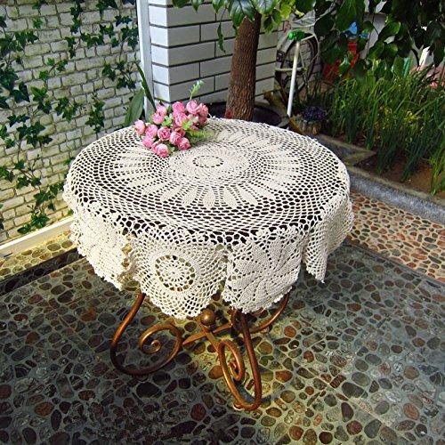 BLUELSS 150 x 200 cm Tischdecke  4 x Stuhl Dressing oder 6 x Stuhl Dressing Rechteck Tischdecke Spitze grünen geblümten Morgen Rosen Elfenbein 90  90 cm
