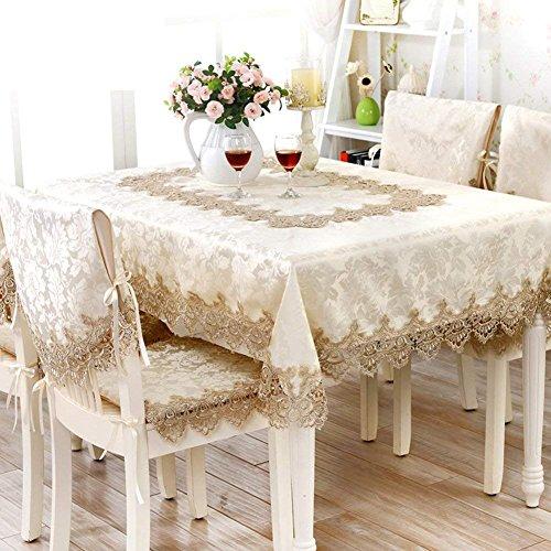 DHG Europäischen Stil Tischdecke Tuch Tischdecke Garten Tischdecke Spitze Tischläufer Tischdecken Stuhlhussen SetA 150x210cm 59x83inch