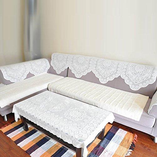 Hrph NEUE schöne Spitze-Stickerei-Tischdecke Essenzentrum-Tabellen-Dekoration-runder quadratisches Rechteck-Oval