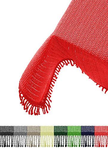 Brandsseller Gartentischdecke Tischdecke - Wetterfest und Rutschfest für Garten Balkon und Camping - Eckig 130 x 160 cm - Farbe Rot
