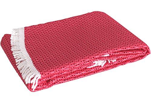 Rustikal Gartentischdecke Tischdecke rot 130x160x07 cm 20627