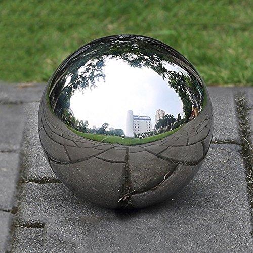 Prokth Spiegelkugel aus 304er-Edelstahl schwimmende Hohlkugel für den Teich Dekoration für Heim und Garten edelstahl silber 300 mm