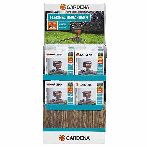 GARDENA Viereckregner ZoomMaxx-Aktion Variabler Sprinkler für unterschiedlichste Anforderungen und Flächen von 9 - 216 m² Reichweite 3 - 18 m Sprengweite 3 - 12 m mit Standfuß 8128-20