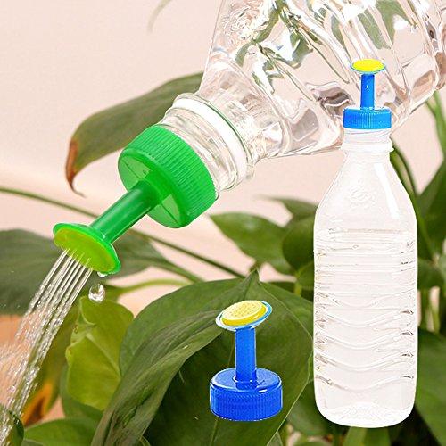 Greenlans gemischte Farbe 4pcs Gardening waterer Zubehör für eine Flasche mit Mini-Sprinkler Sprühgerät für Pflanzen