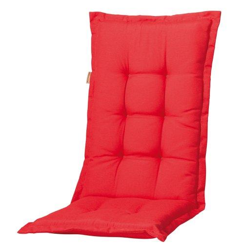 Madison 7PHOSB220 Auflage Panama für Sessel hoch 75 Baumwolle 25 Polyester 123 x 50 x 8 cm rot