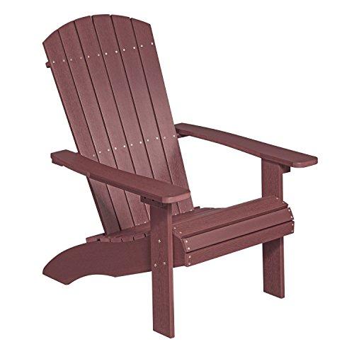 NEG Design Adirondack Stuhl MARCY rot-braun Westport-ChairSessel aus Polywood-Kunststoff Holzoptik wetterfest UV- und farbbeständig