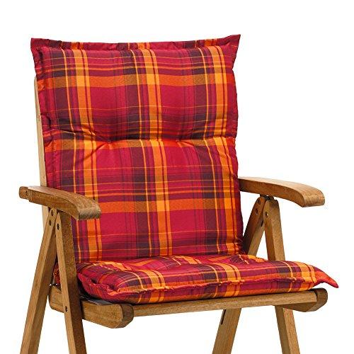 Sessel niedrig Auflagen 8 cm dick 103 cm lang in rot Ibiza 10174-3 ohne Stuhl