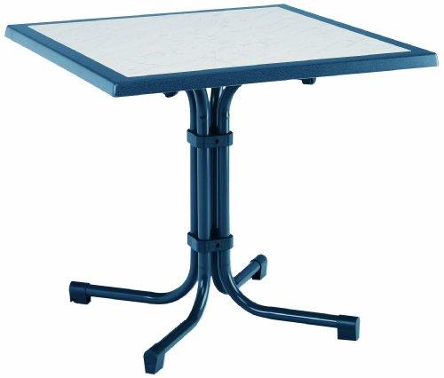 BEST 26538820 Tisch Boulevard quadratisch 80 x 80 cm blau