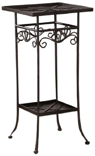 Bastelmaxi Mosaiktisch Tischrohling Tisch 2-stufig quadratisch schwarz