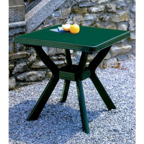 Quadratischer Tisch Maße 80 x 80 cm Farbe Nilgrün