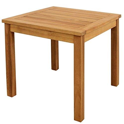 nxtbuy Tisch Freemont aus teakfarbenem Holz quadratischer Outdoortisch äußerst stabil und witterungsbeständig mit geölter Oberfläche