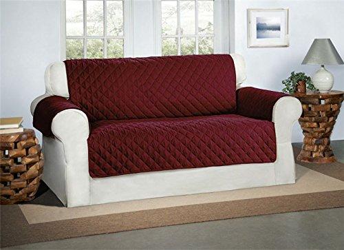 Safari Homeware BurgundWein 2-Sitzer Sofa Bezug Couchdeckel - Sofa Couch Luxus Gestepptes Möbelschutz